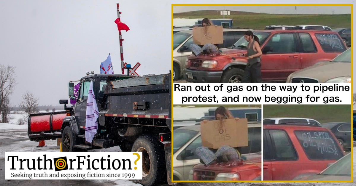 'Pipeline Protesters Out of Gas' Meme