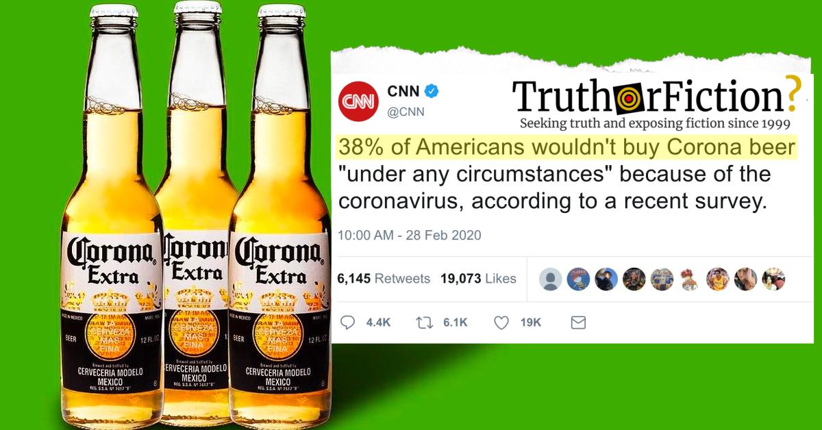 Would 38 Percent of Americans Not Buy Corona Beer over Coronavirus Fears?