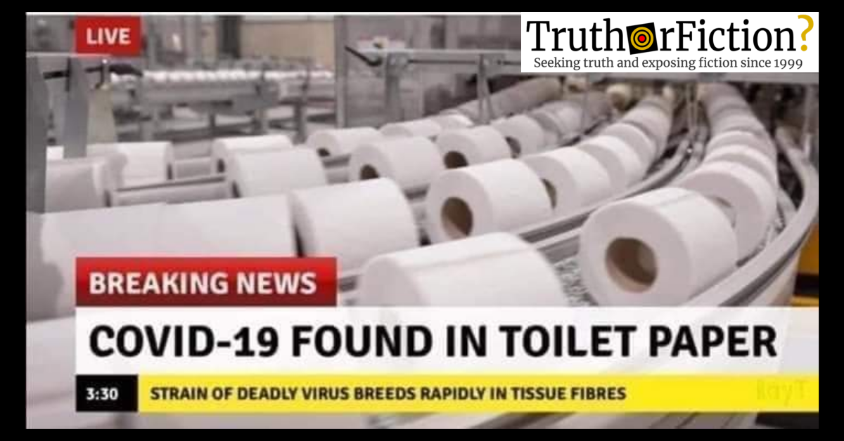 COVID-19 in Toilet Paper Meme - Truth or Fiction?
