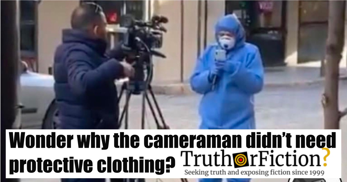 'I Wonder Why the Cameraman Didn't Need Protective Clothing?' Facebook Post