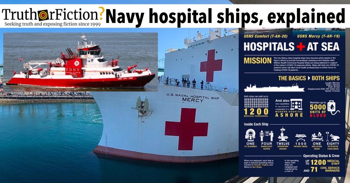 USNS Mercy and USNS Comfort Dock in Cities for Coronavirus Response