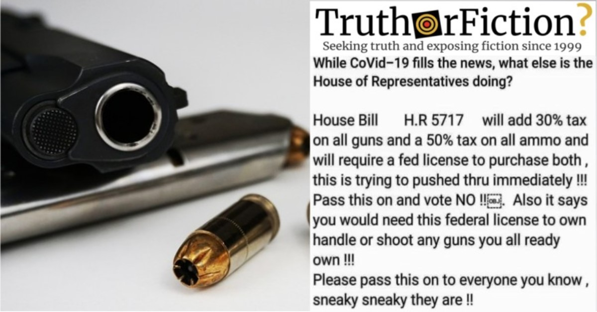 Does H.R. 5717 Require That Gun Owners Be Licensed by the Government?