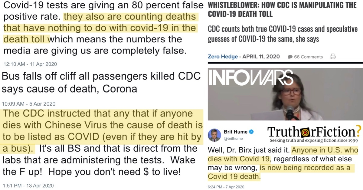 Did the CDC Order All Deaths Be Recorded as a Result of COVID-19 — Even Heart Attacks and Accidents?