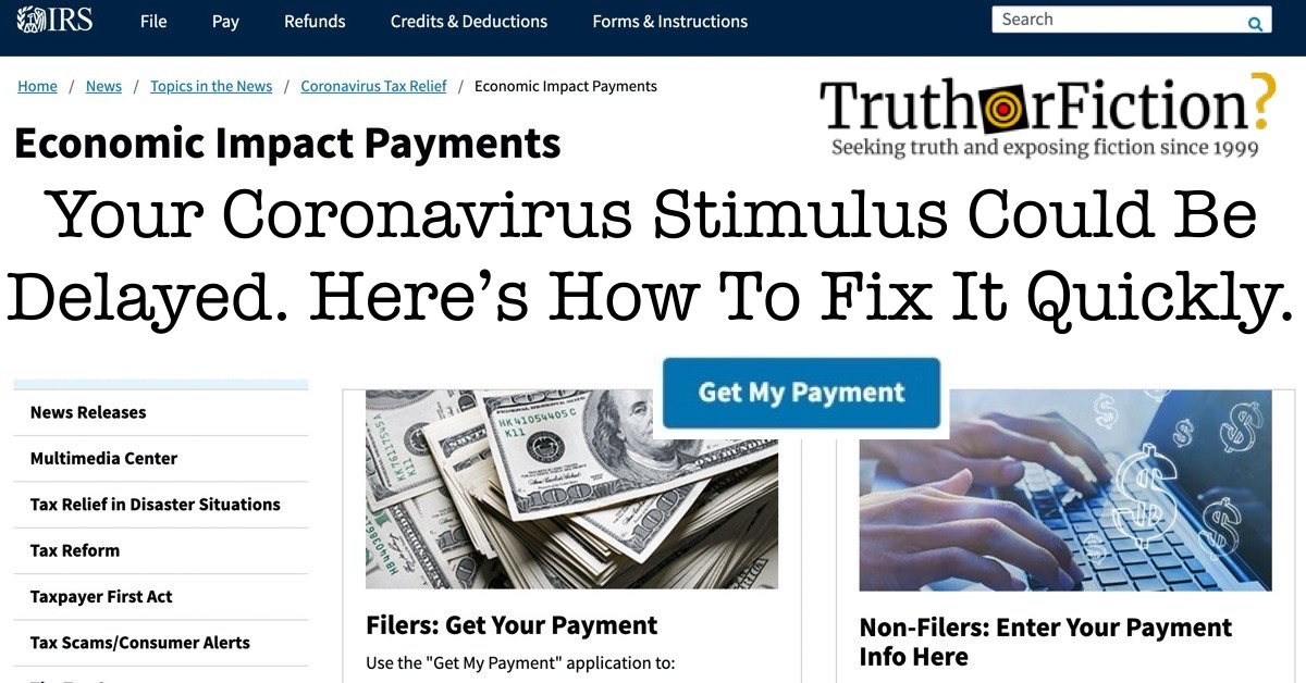 Where is My Stimulus? How to Get Your Missing IRS Coronavirus Check