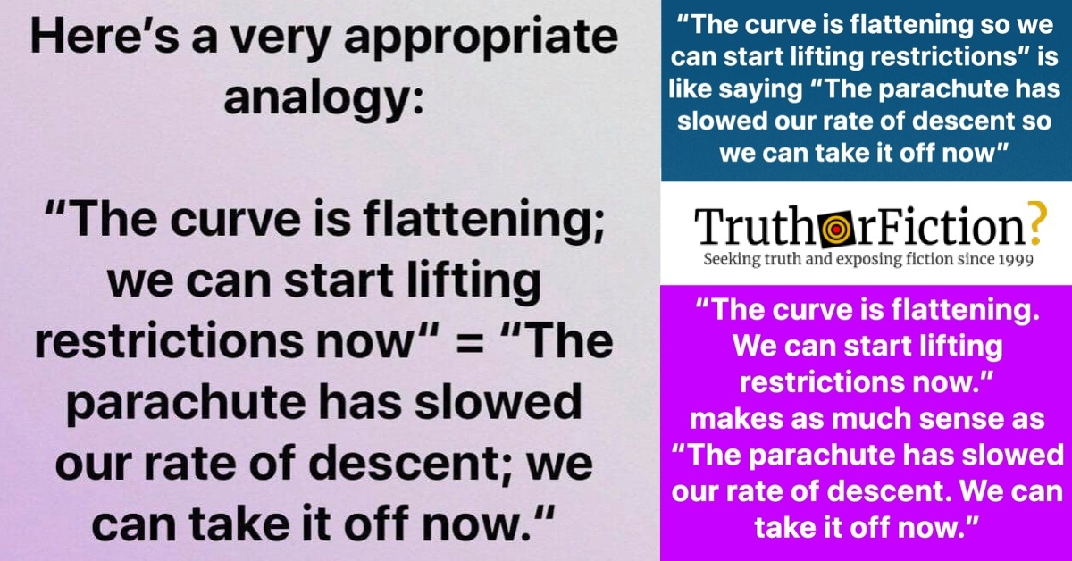 Meme Comparing 'Flattening the Curve' of COVID-19 to Deploying a Parachute Goes Viral