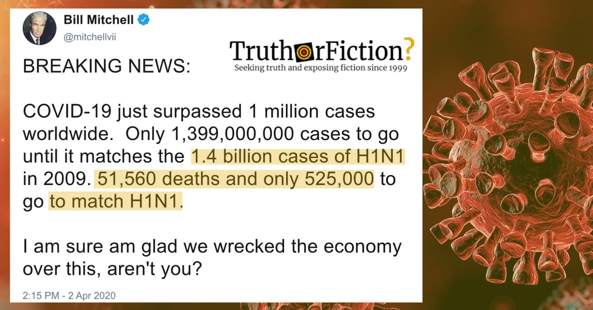 Did H1N1 Infect 1.4 Billion People and Kill Nearly 600,000 Worldwide?