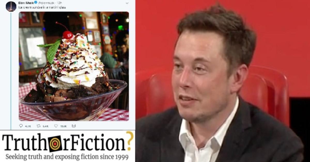 Did Elon Musk Use Buca di Beppo's Photograph of a Sundae?