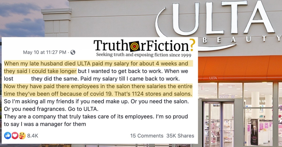 Is Ulta Paying Employees for the Duration of the COVID-19 Pandemic?