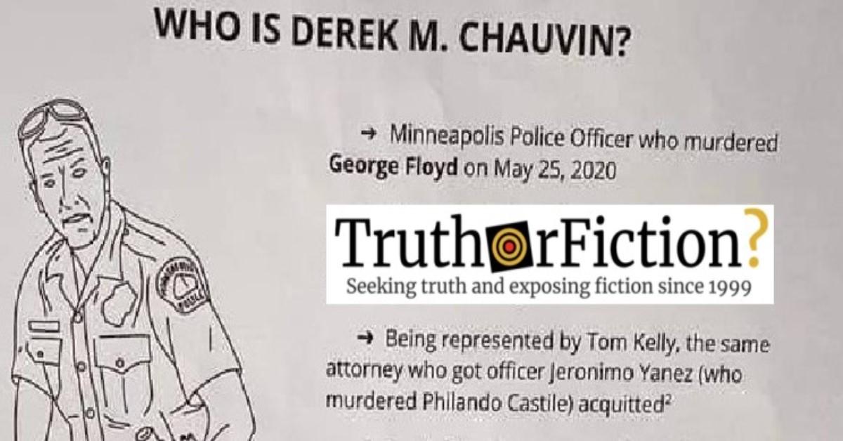 'Who is Derek M. Chauvin?'