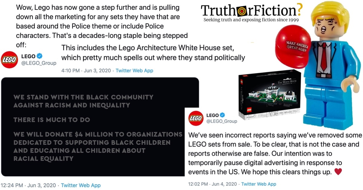 Did LEGO Stop Marketing Police Figurines, White House Sets in Response to George Floyd Protests?