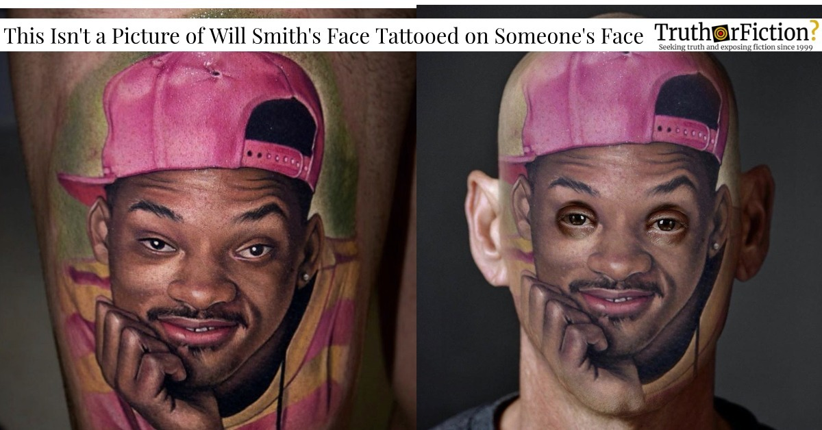 'This Fool Actually Tattooed Will Smith on His Face'