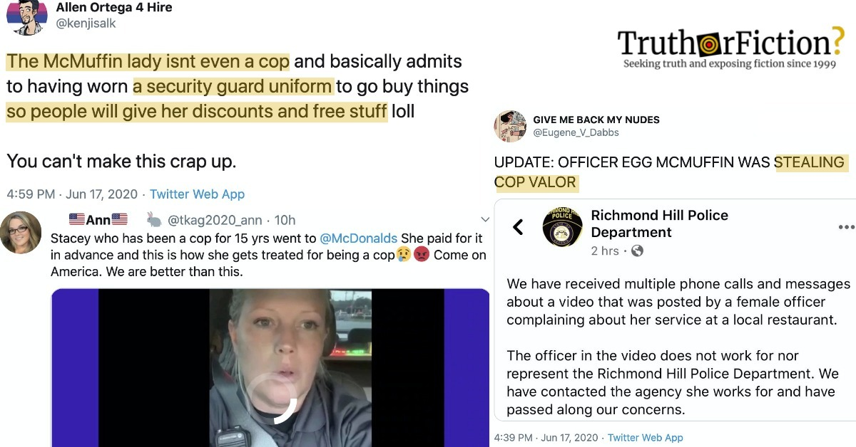 Is 'Officer McMuffin' Stacy Talbert a Security Guard, Not Law Enforcement?