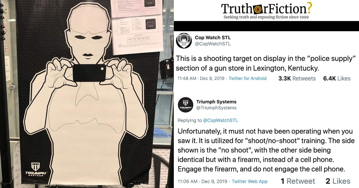 Is This a 'Shooting Target' Holding a Phone in the 'Police Supply' Section of a Gun Store in Lexington, Kentucky?