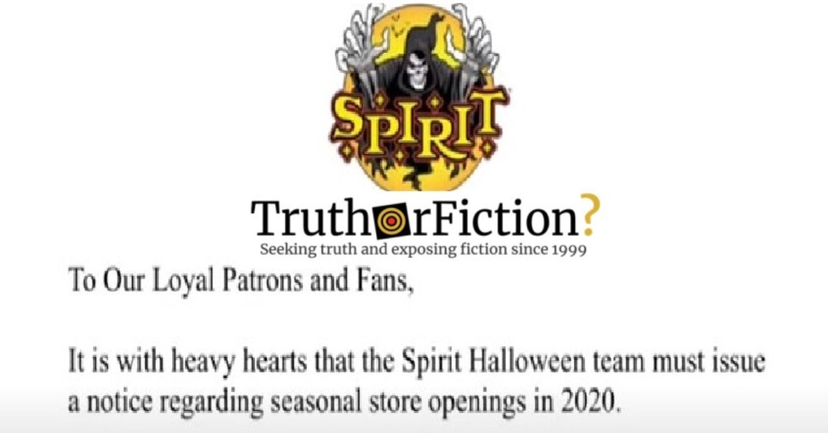 Spirit Halloween Opening 2020 Did Spirit Halloween Announce It Would Not Open Stores in 2020