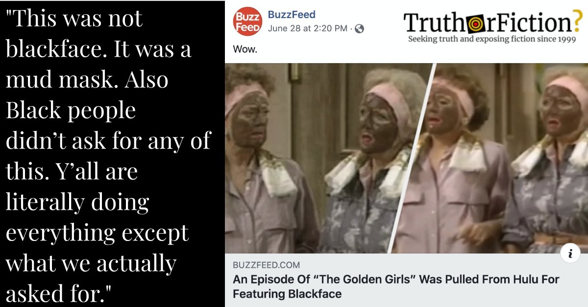 'The Golden Girls' Blackface Controversy