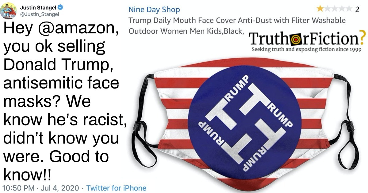 Is This a Real Listing for an Anti-Semitic Trump Face Mask?