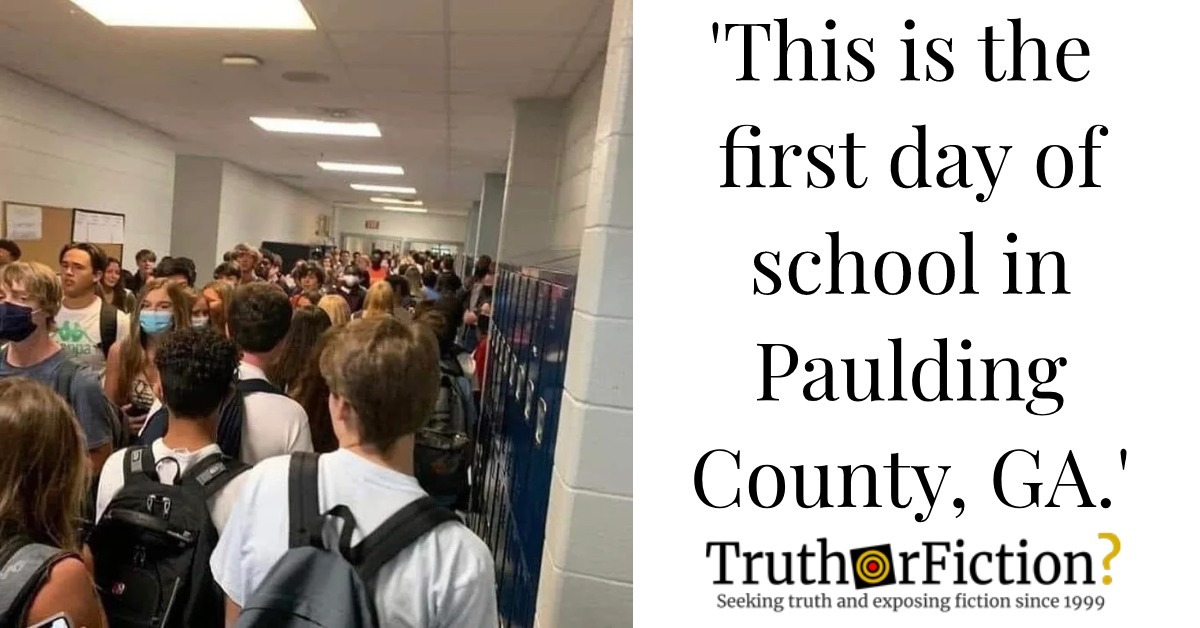 First Day of School in Paulding County, Georgia