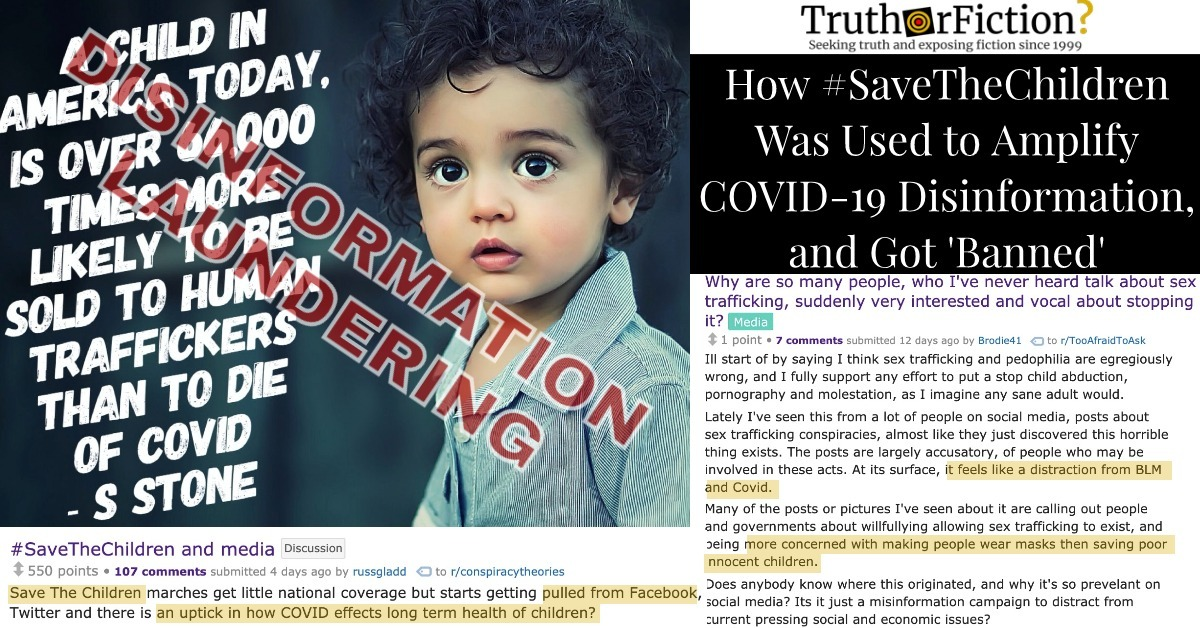 How COVID-19 Triggered a #SaveTheChildren Child Trafficking Panic