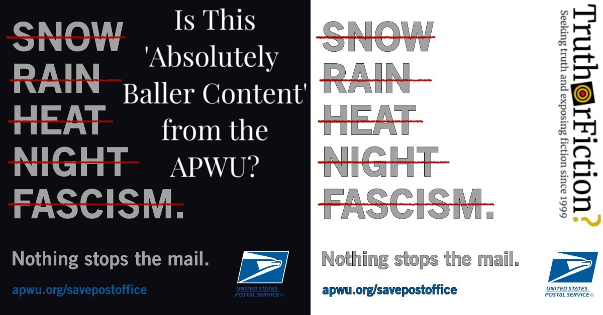 postal workers union ad