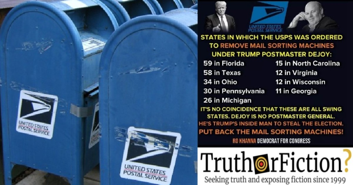 Did the USPS Order the Removal of 671 Mail-Sorting Machines?