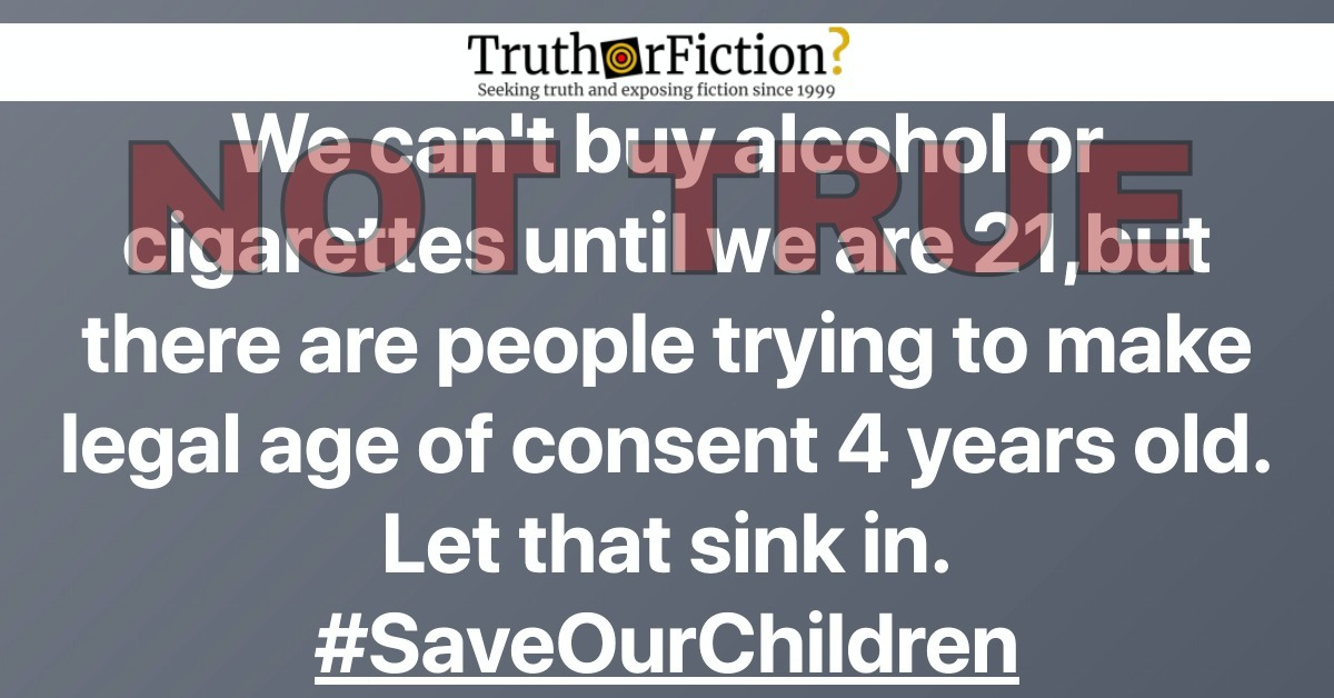 Are People Trying to Make the Legal Age of Consent 4 Years Old?