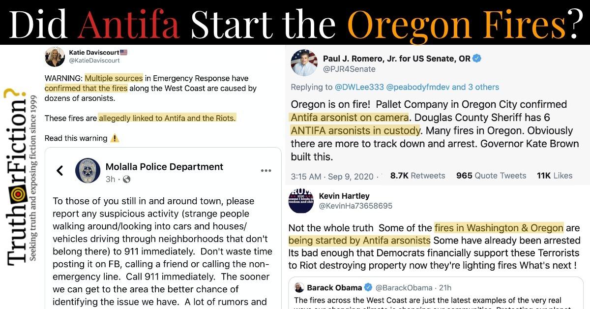 Is 'Antifa' Setting Fires in Oregon?