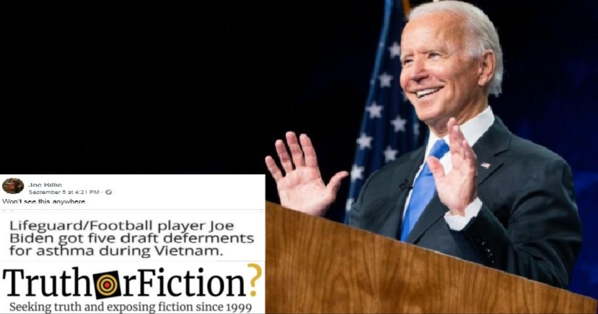 Did Joe Biden Receive Five Deferments During the Vietnam War?