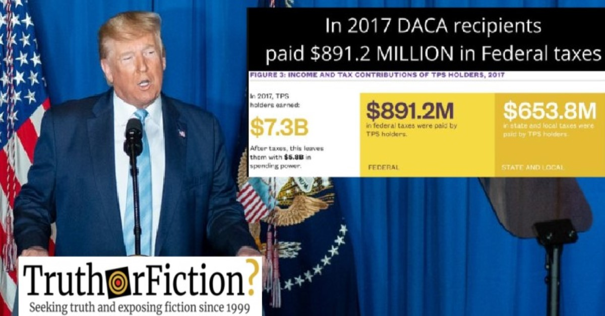 Did DACA Recipients Pay $891 Million in Federal Taxes?