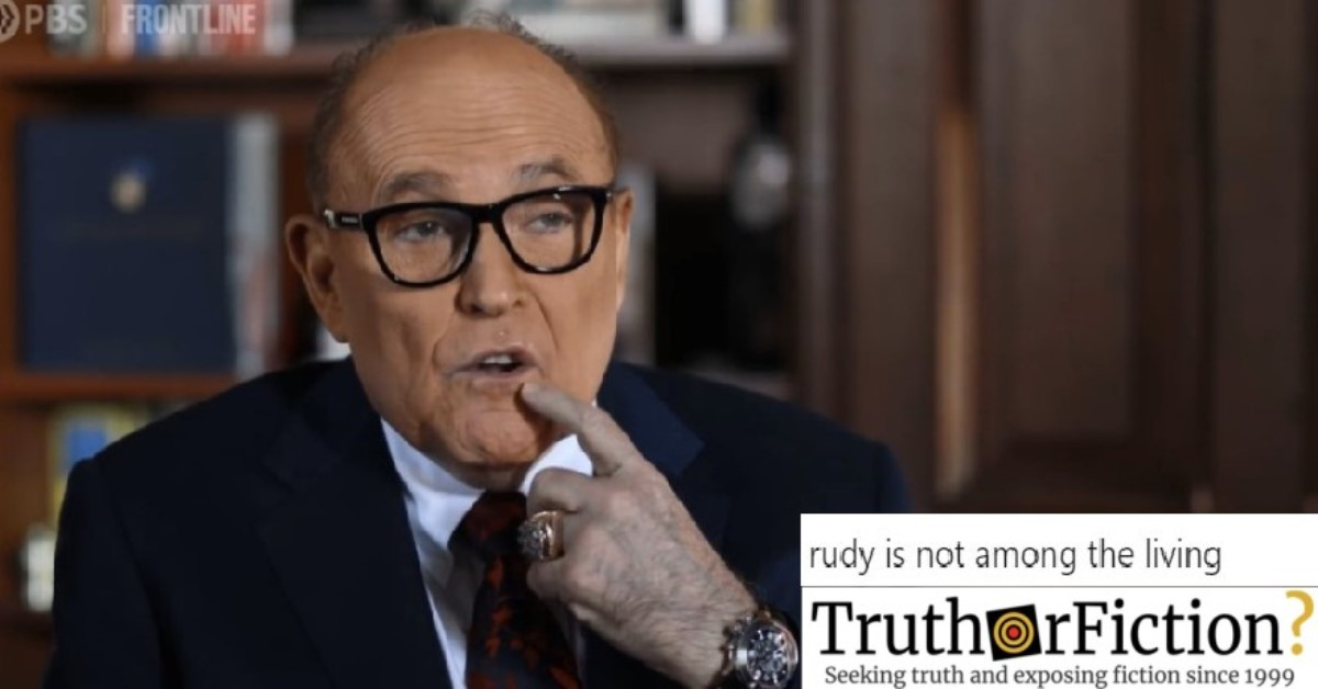 Was Rudy Giuliani Filmed with Discoloration on his Hands?