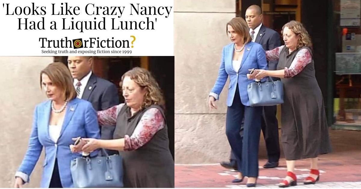 'Looks Like Crazy Nancy Had a Liquid Lunch'