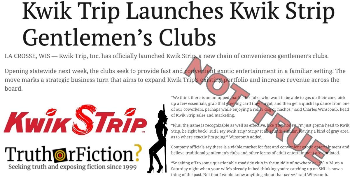 'Kwik Trip Launches Kwik Strip Gentlemen's Clubs'