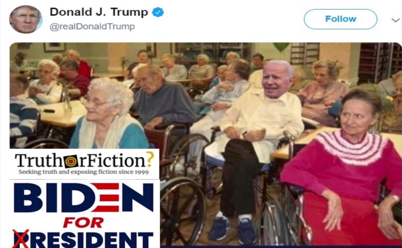 Did Trump Post a Photo Mocking Biden and the Elderly?