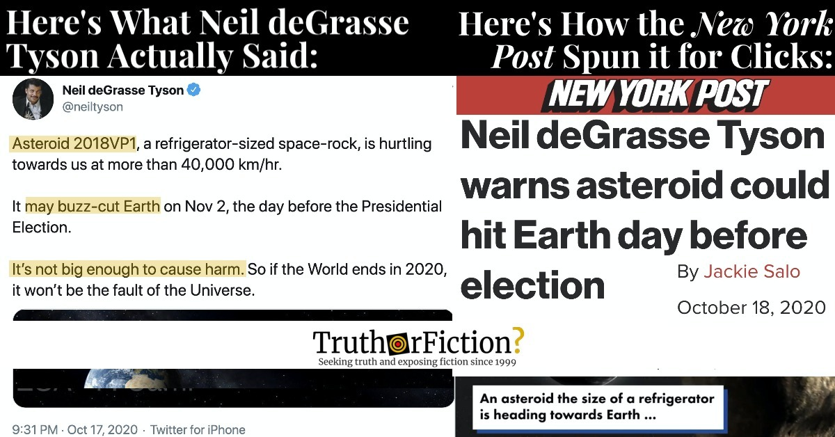 'Asteroid Could Hit Earth' Clickbait Revived by the New York Post