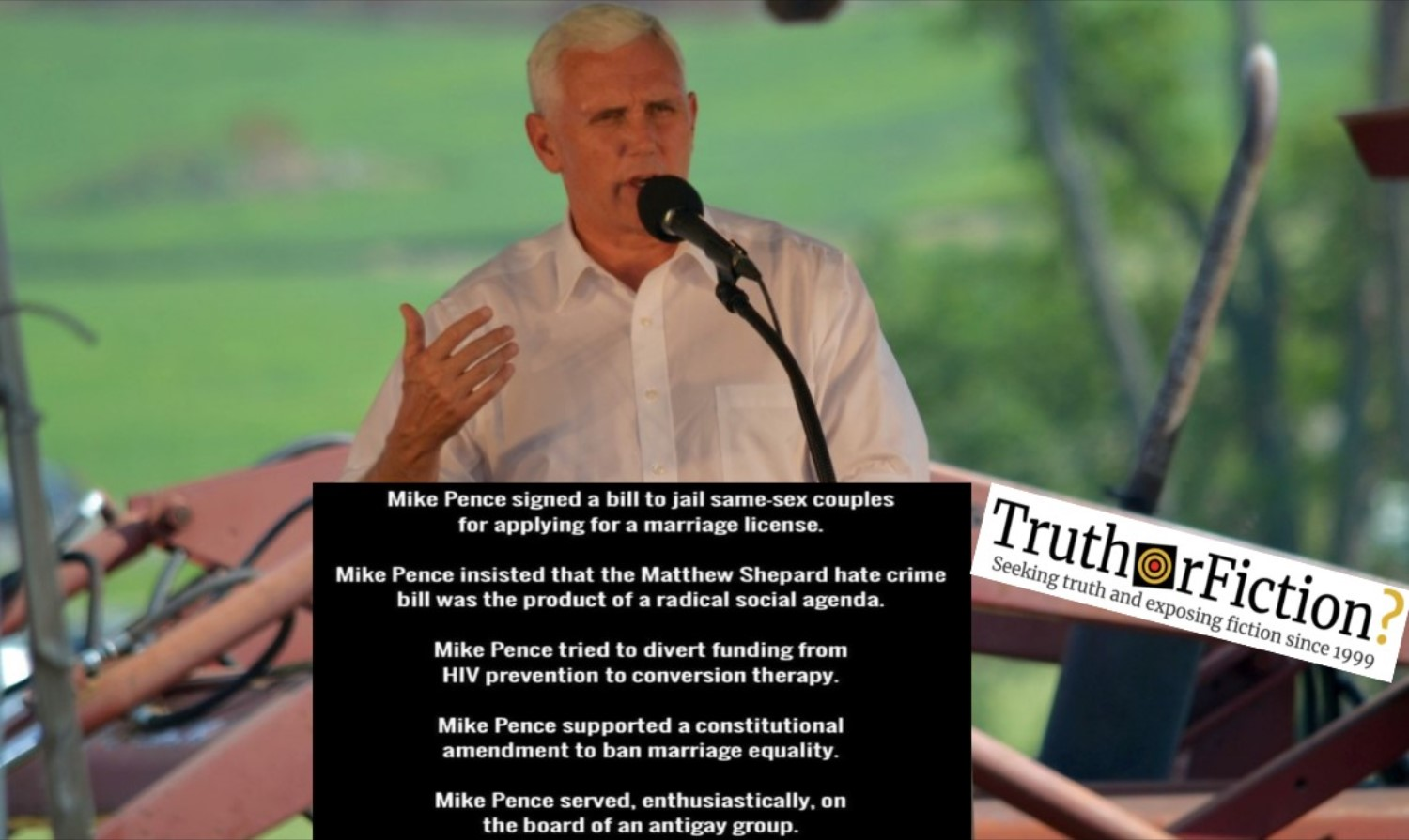 Mike Pence, LGBTQ Communities, and 'a Radical Social Agenda'