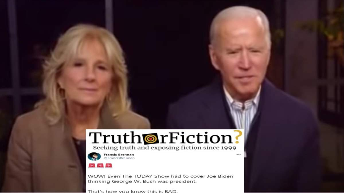 Did Joe Biden Call Trump 'George' During a Live Video?