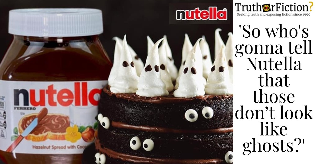 Nutella PR and Accidentally Racist Halloween 'Ghosts'