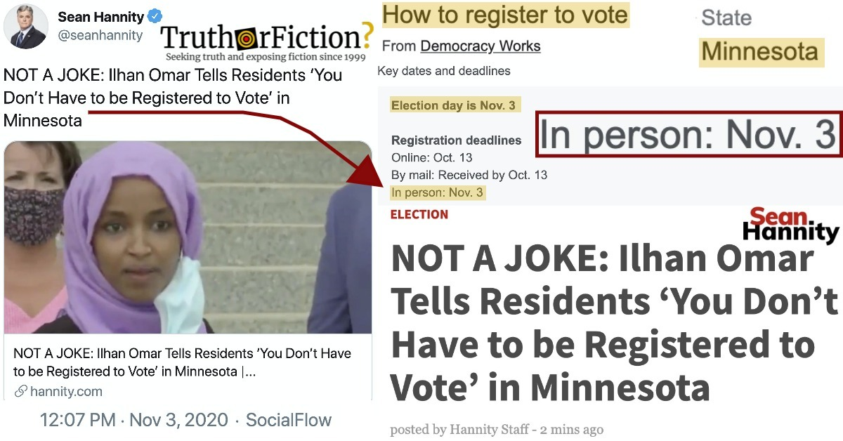 'You Don't Have to Be Registered to Vote in Minnesota'