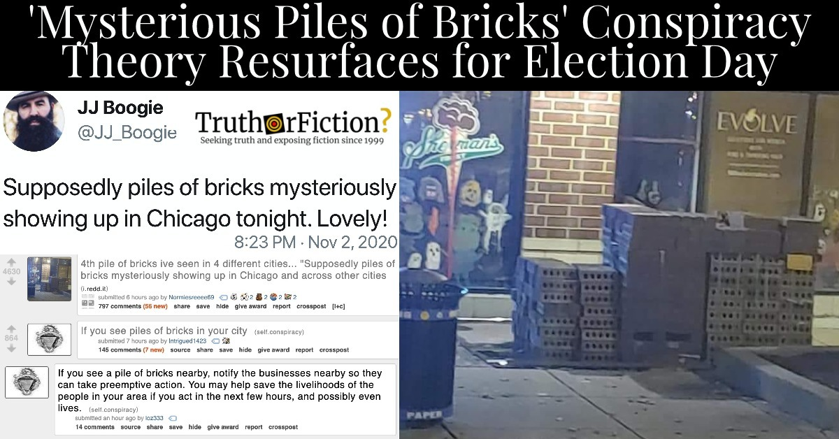 Mysterious 'Piles of Bricks' in Chicago on Election Day
