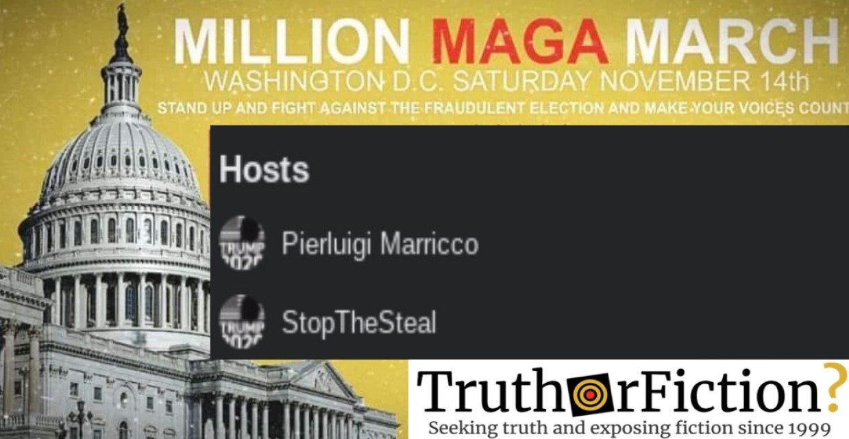 Trump Defeat Denialists Use Facebook to Promote 'MAGA Marches'