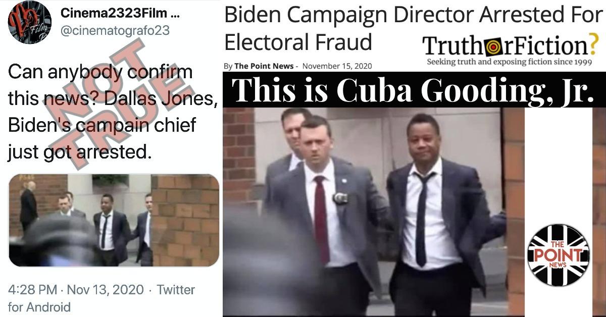 Was Dallas Jones, a 'Biden Campaign Director,' Arrested For 'Electoral Fraud'?