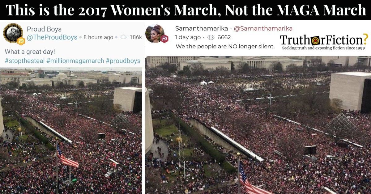 This Is Not the 'Million MAGA March' on Washington in November 2020