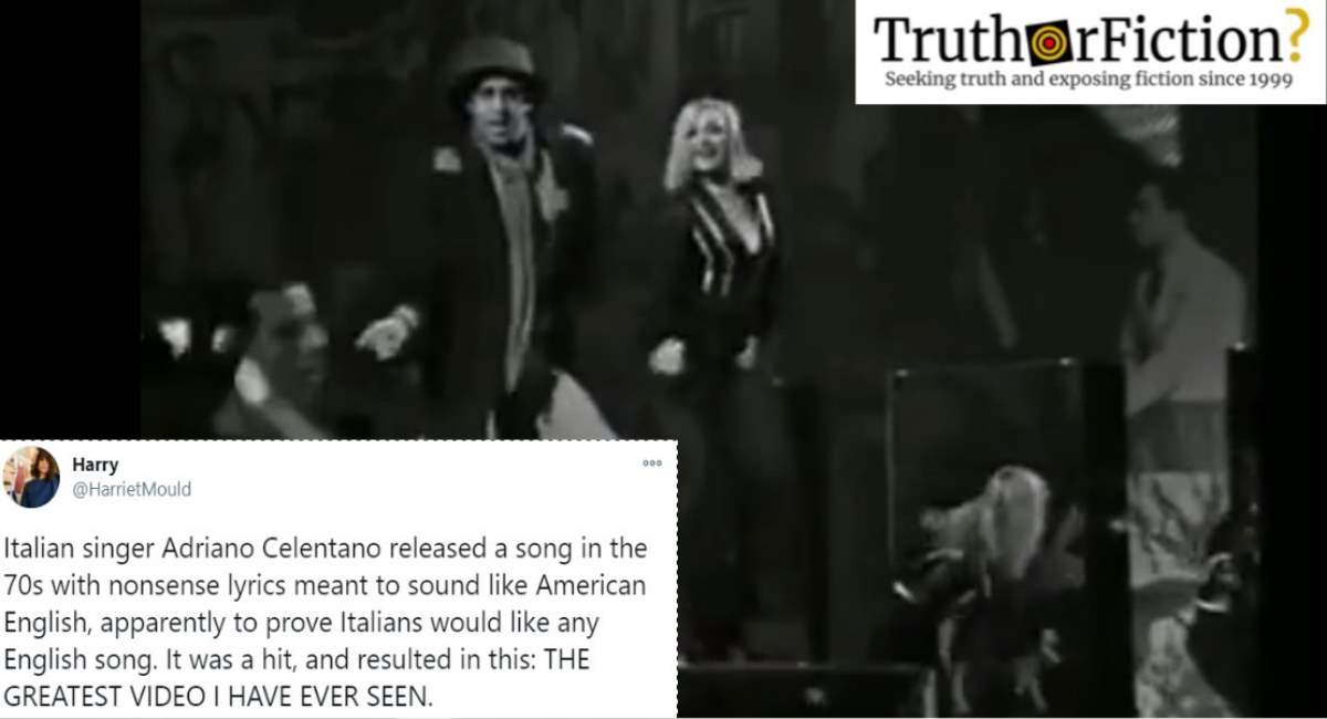Did an Italian Singer Score a Hit Song Using 'Nonsense' English Lyrics?