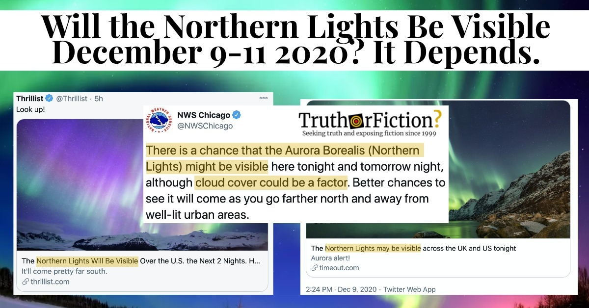 Will the Northern Lights Be Visible in the Continental United States in December 2020?