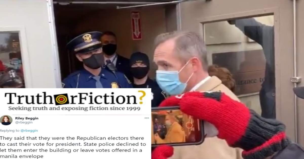 Did Michigan State Police Block 'Republican Electors' From Entering the Courthouse?
