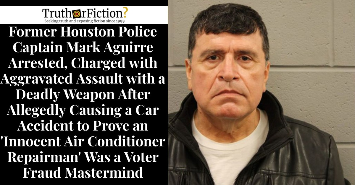 Former Houston Police Captain Arrested, Allegedly Paid $266,400 by 'Liberty Center for God and Country' to 'Investigate Electoral Fraud'