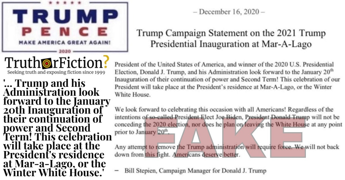 Is the Trump Campaign Planning a Second Inauguration?