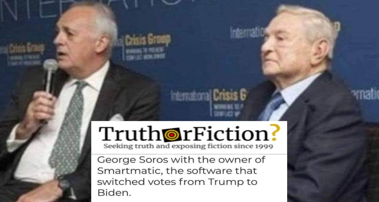 'George Soros With the Owner of Smartmatic'