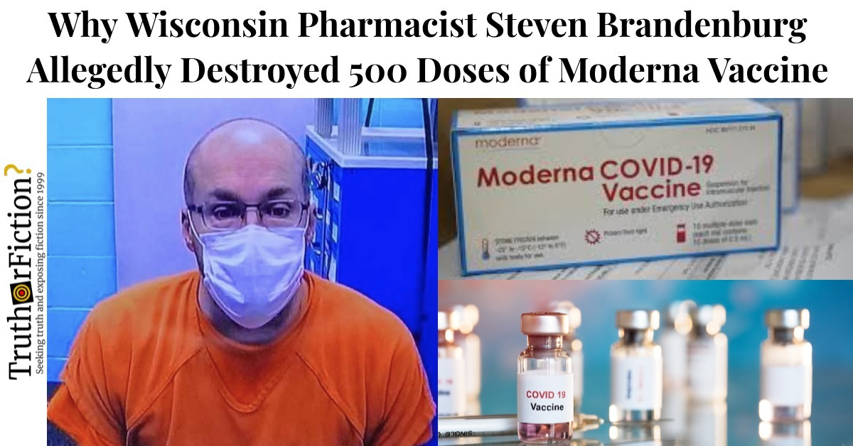 Why a Wisconsin Pharmacist Allegedly Destroyed COVID-19 Vaccines