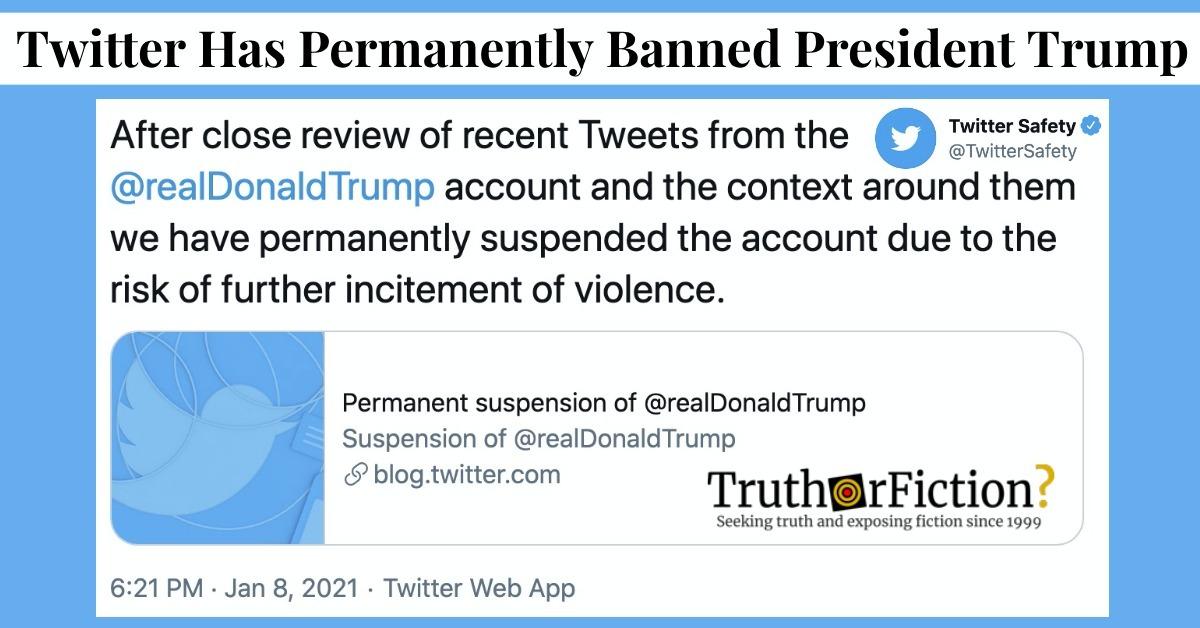 Twitter Finally Shuts Down Donald Trump's Account