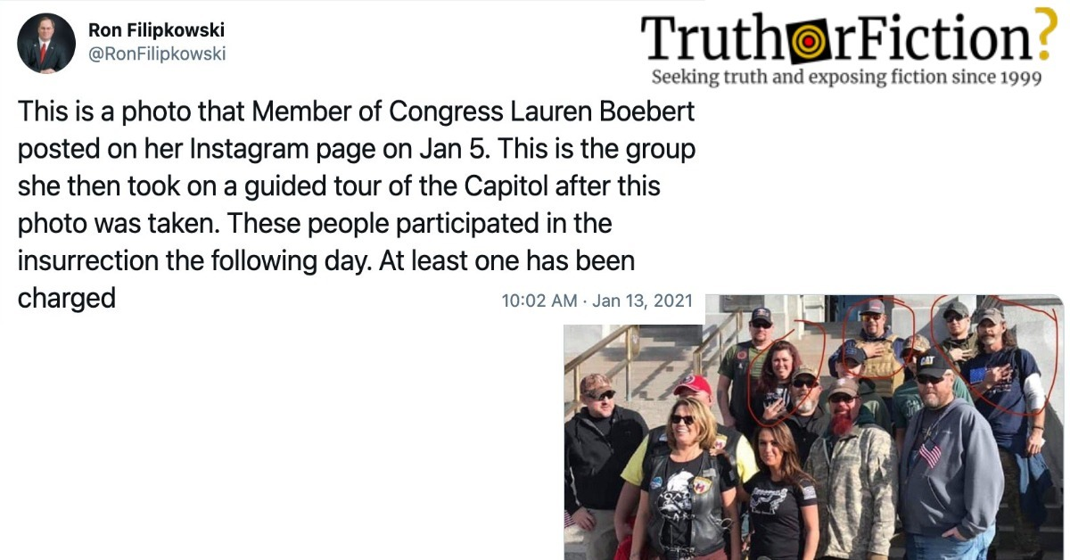 Does This Photograph Show a Tour Group the Day Before the Capitol Insurrection?